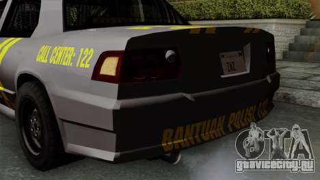 Indonesian Police Type 1 для GTA San Andreas вид снизу
