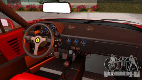 Ferrari F40 1987 with Up Lights для GTA San Andreas вид сзади