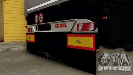 Trailer Kogel для GTA San Andreas вид сзади