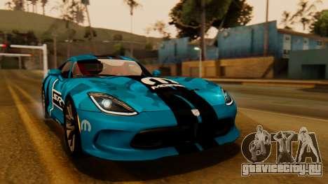 Dodge Viper SRT GTS 2013 IVF (HQ PJ) HQ Dirt для GTA San Andreas салон
