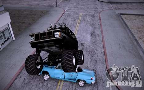 Huntley Monster v3.0 для GTA San Andreas вид сзади слева