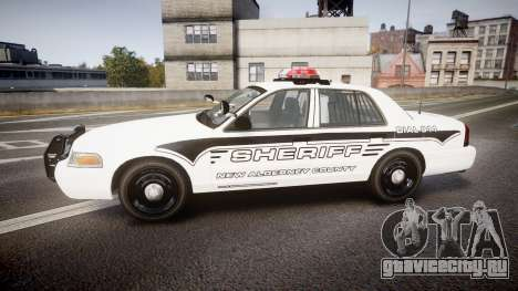 Ford Crown Victoria 2008 New Alderney Sheriff для GTA 4 вид слева