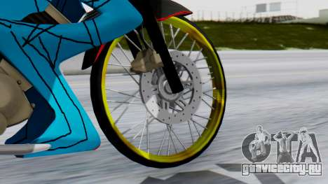 Satria FU Drag для GTA San Andreas вид сзади слева