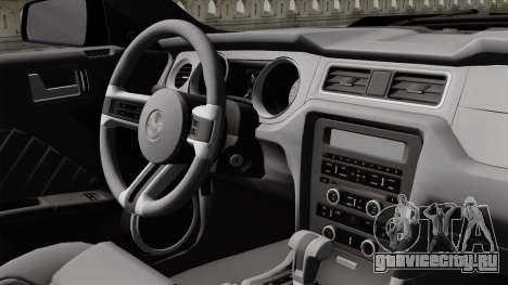 Ford Mustang GT 2010 для GTA San Andreas вид сзади
