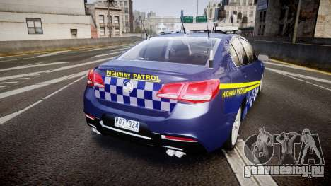 Holden VF Commodore SS Highway Patrol [ELS] v2.0 для GTA 4 вид сзади слева