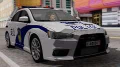 Mitsubishi Lancer Evo X Chinese Police для GTA San Andreas