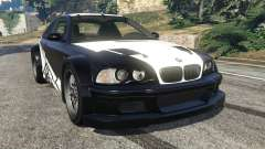 BMW M3 GTR E46 white on black для GTA 5