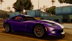 Dodge Viper SRT GTS 2013 IVF (HQ PJ) HQ Dirt для GTA San Andreas