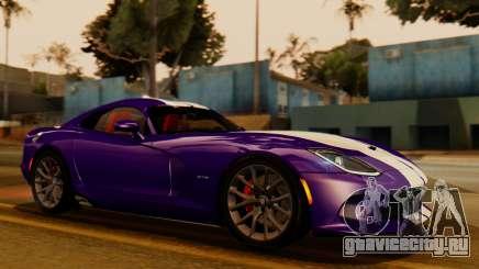 Dodge Viper SRT GTS 2013 IVF (HQ PJ) HQ Dirt для GTA San Andreas