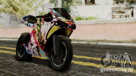 Bati Motorcycle JDM Edition для GTA San Andreas вид изнутри