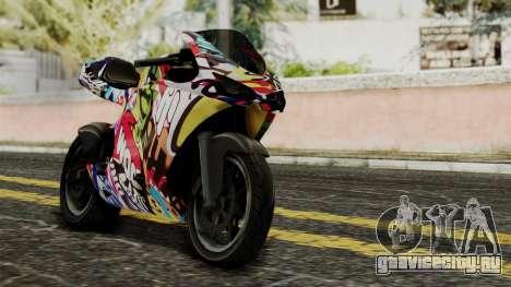 Bati Motorcycle JDM Edition для GTA San Andreas вид изнутри