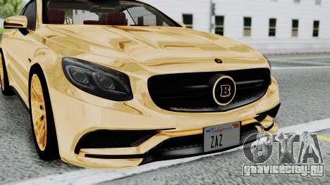 Brabus 850 Gold для GTA San Andreas вид изнутри