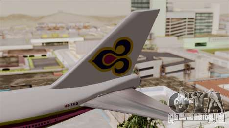 Boeing 747-200 Thai Airways для GTA San Andreas вид сзади слева