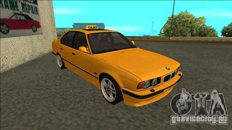 BMW M5 E34 Taxi для GTA San Andreas вид слева