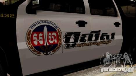 Sheriff Granger Police GTA 5 для GTA San Andreas вид сзади слева