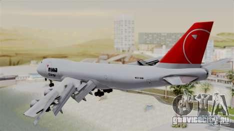 Boeing 747 Northwest Cargo для GTA San Andreas вид слева