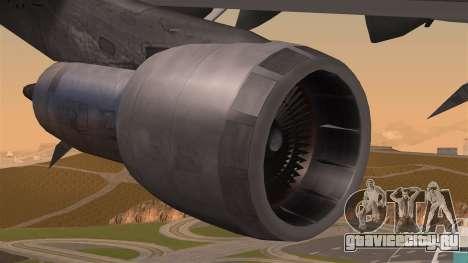 Boeing 747 Air France для GTA San Andreas вид справа