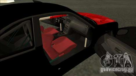 Ниссан Скайлайн Р33 Монстр Энергии для GTA San Andreas вид сзади слева