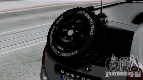 Dacia Duster Terranger 6x6 для GTA San Andreas вид сзади