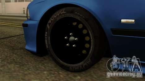 BMW M5 E39 Bucharest для GTA San Andreas вид сзади слева
