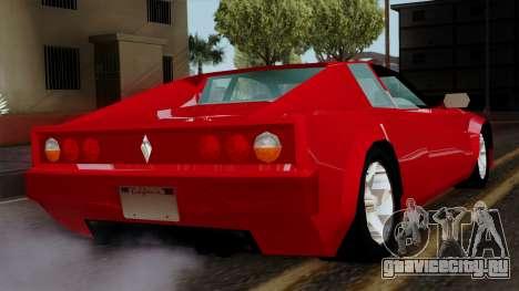 Cheetah from Vice City Stories для GTA San Andreas вид слева