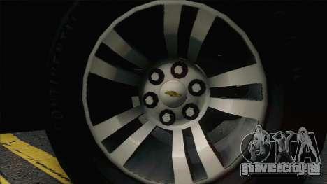 Chevrolet Suburban ФСБ для GTA San Andreas вид сзади