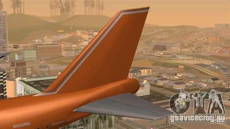 Boeing 747 Braniff для GTA San Andreas вид сзади слева