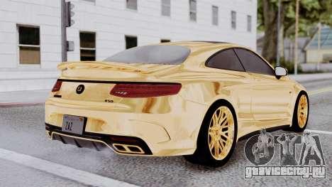 Brabus 850 Gold для GTA San Andreas вид слева