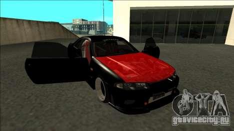 Ниссан Скайлайн Р33 Монстр Энергии для GTA San Andreas вид сбоку