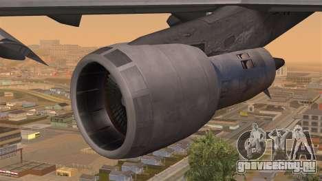 Boeing 747 Braniff для GTA San Andreas вид справа