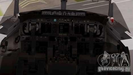 Boeing 737-800 Air India Express для GTA San Andreas вид сзади