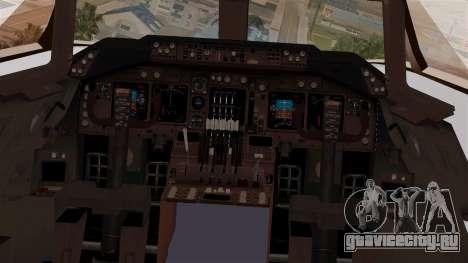 Boeing 747-200 Thai Airways для GTA San Andreas вид сзади