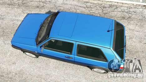 Volkswagen Golf Mk2 GTI для GTA 5 вид сзади