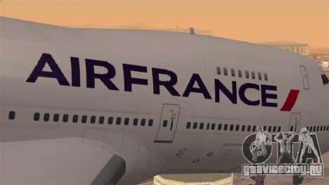 Boeing 747 Air France для GTA San Andreas вид сзади
