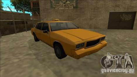 Tahoma Taxi для GTA San Andreas вид сзади