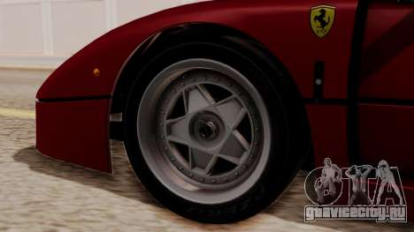 Ferrari F40 1987 without Up Lights HQLM для GTA San Andreas вид сзади слева