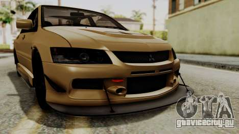 Mitsubishi Lancer Evolution IX MR 2006 для GTA San Andreas вид сверху