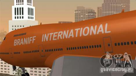 Boeing 747 Braniff для GTA San Andreas вид сзади