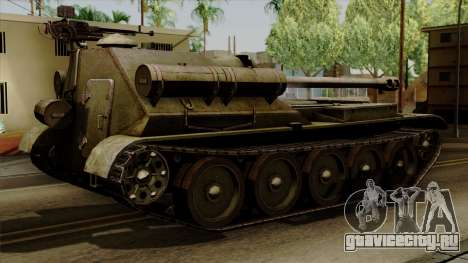 SU-101 122mm from World of Tanks для GTA San Andreas вид слева