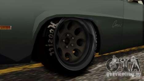 Chevrolet Camaro Drag Street для GTA San Andreas вид сзади слева