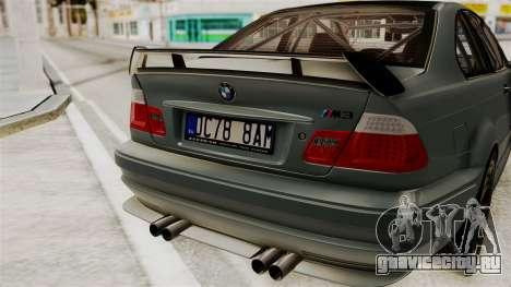 BMW M3 E46 GTR 2005 Stock для GTA San Andreas вид сзади