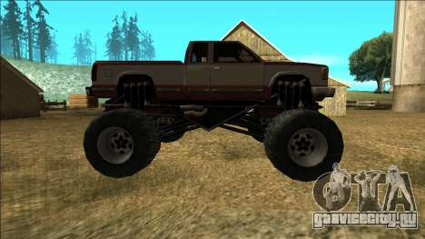 New Yosemite v2 Monster для GTA San Andreas вид изнутри