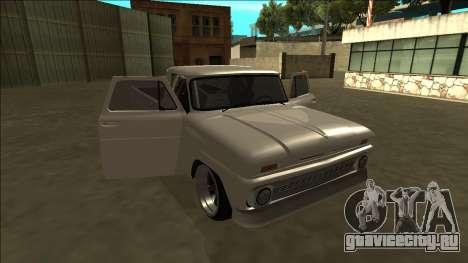 Chevrolet C10 Drift для GTA San Andreas вид сверху