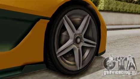 GTA 5 Progen T20 IVF для GTA San Andreas вид сзади слева