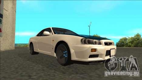 Nissan Skyline R34 Drift для GTA San Andreas вид справа