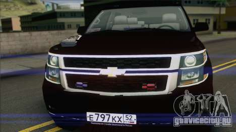 Chevrolet Suburban ФСБ для GTA San Andreas вид сзади слева