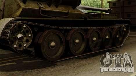 SU-101 122mm from World of Tanks для GTA San Andreas вид сзади слева