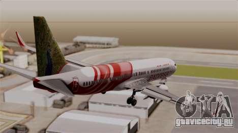 Boeing 737-800 Air India Express для GTA San Andreas вид слева