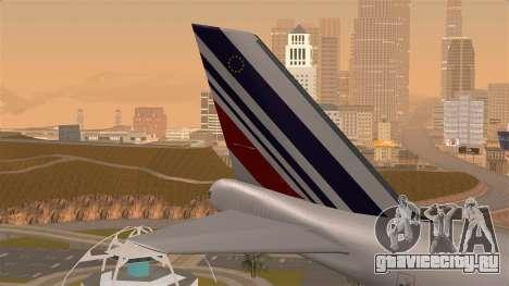 Boeing 747 Air France для GTA San Andreas вид сзади слева