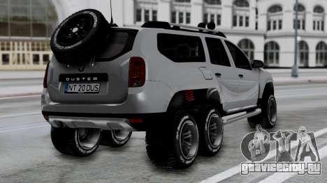 Dacia Duster Terranger 6x6 для GTA San Andreas вид слева